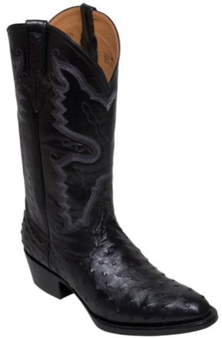 SKU#KA1388 Genuine Full Quill Ostrich Boots