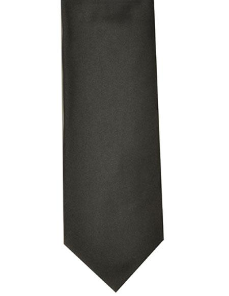 Mens Extra Long Black Polyester Neck Tie