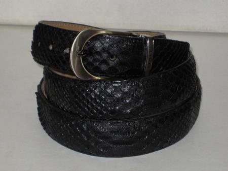 Genuine Authentic Black python