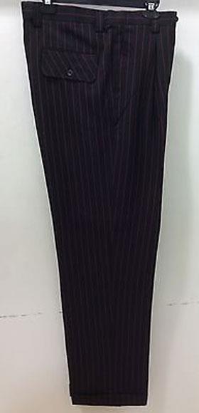 Men's Black or Red Wide Leg Dress Slacks Stripe  Pinstripe Men's Wide Leg Trousers