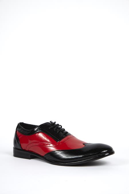 Black & Red Wingtip