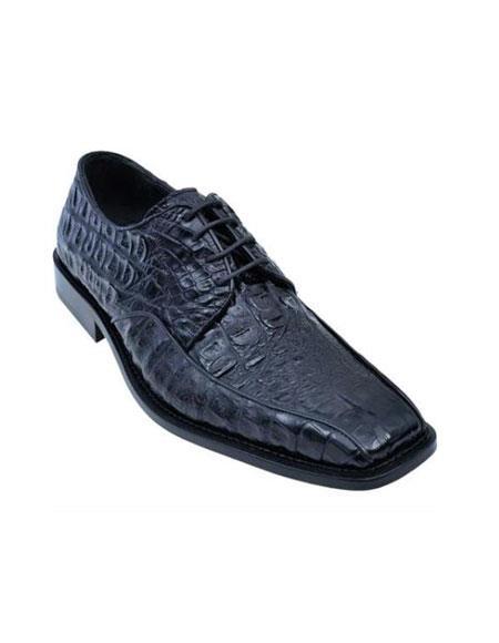 Gator Belly Dress Shoe Exotic Los Altos – Black