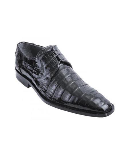 Los Altos Black Genuine All-Over Crocodile ~ World Best Alligator ~ Gator Skin Belly Shoes