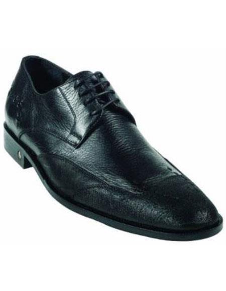 Men's CatShark Skin Black Dress Shoe