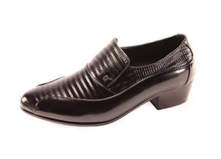 SKU#SL6283 Mens Black Slip On ~ Loafer Shoes