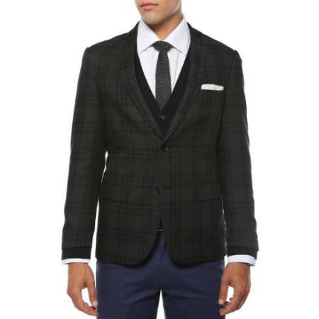 Skinny Cut Tweed Windowpane