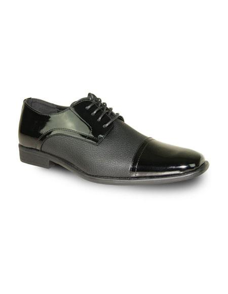 Mens Fashionable Black Tuxedo Lace Up Tuxedo Dress Shoe For Men Perfect for Wedding