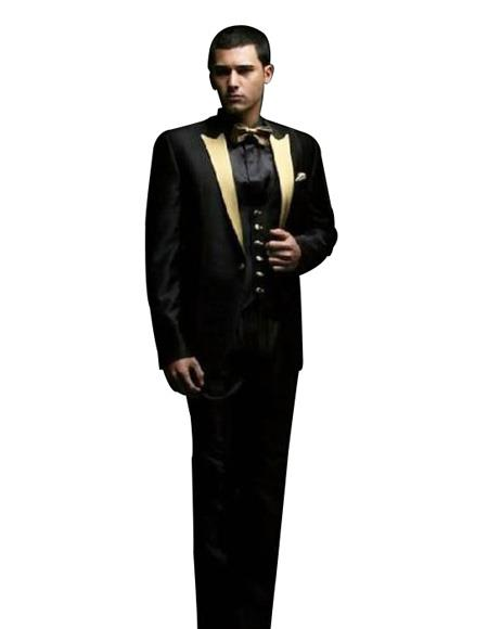Black And Gold Tuxedo Blazer