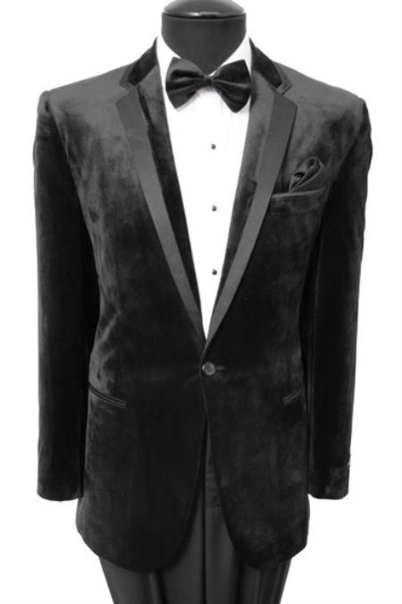 Mens Velvet Velour Blazer Sport Coat Two Button Tuxedo Ja