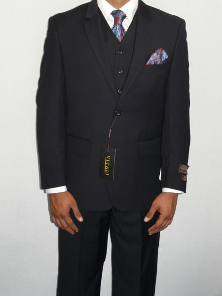 Three Piece Vested Suit