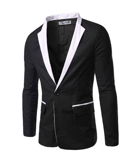 Men's Black and White Blazer / Sport Jacket