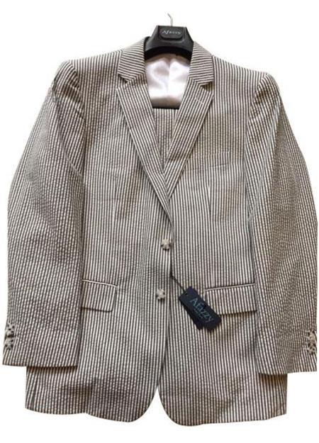 Seersucker Suit Mens Black/White Modern Fit Striped Cotton Blend Seersucker Sear sucker suit Flat Front Pants