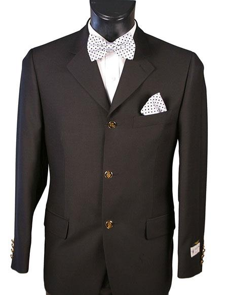 Men s Black 2 Button Black Cashmere Sportcoat Blazer