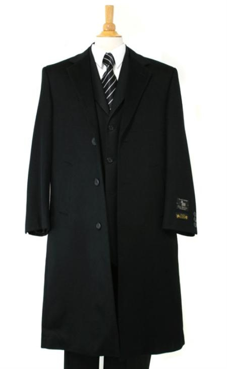Harward Luxurious soft finest Pure Cashmere&Wool Full Length Black Topcoats ~ overcoat