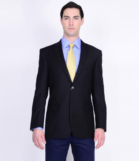 Mens Mantoni Wool Blazer Black