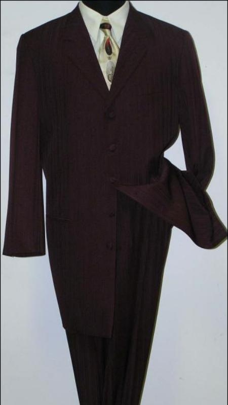 SKU# LZT99 Mens Black Jackson style Fashion Dress Long Zoot Suit