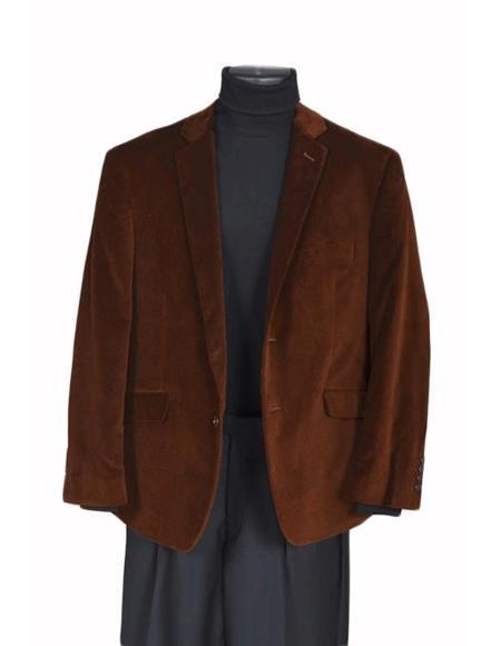 Men's Designer Casual Cheap Priced Fashion Blazer Dress Jacket Blazer Sport Coat- Brown
