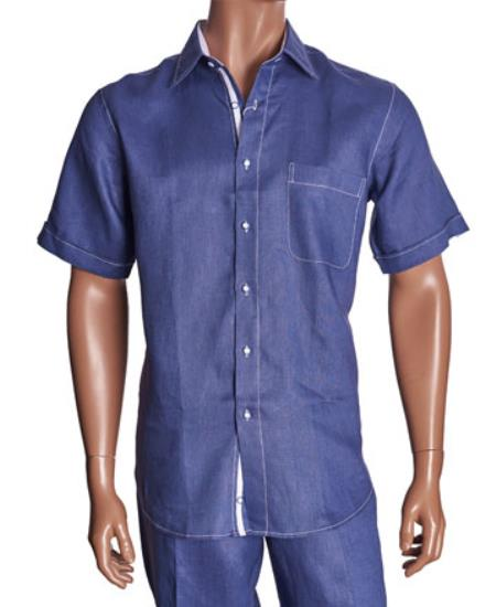 Linen China Blue Casual