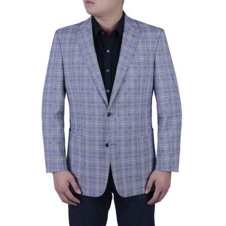 Notch Lapel Blue and
