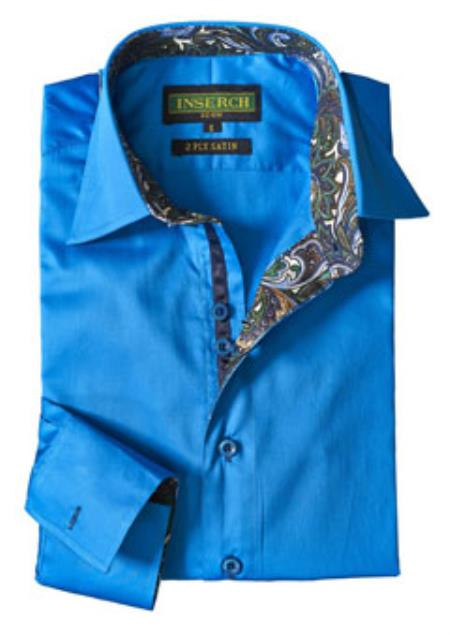 Mens China Blue Cotton