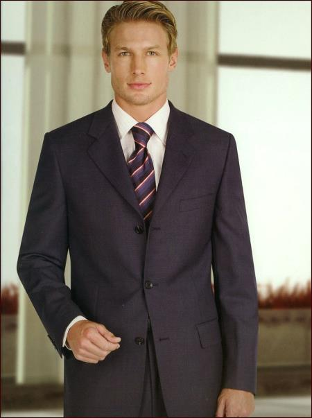Authentic Real With Tags Mantoni Cheap Priced Business Suits Clearance Sale 2 Pleats Blue - High End Suits - High Quality Suits