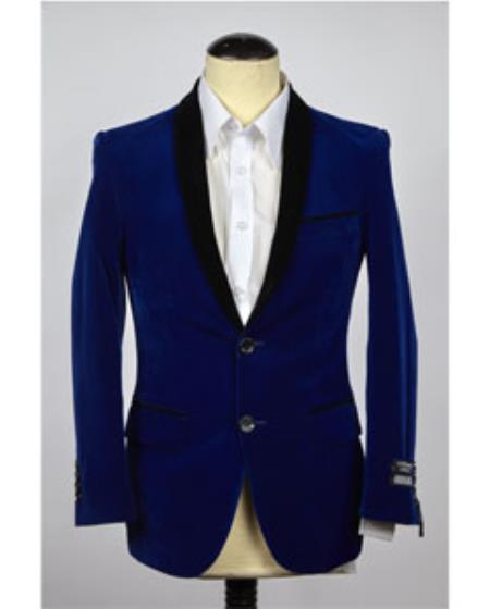 Velvet Blazer Jacket Royal