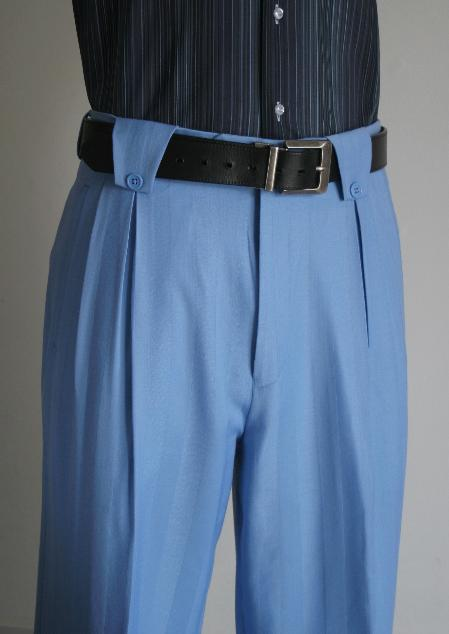 SKU#BLUE156 Mens Wide Leg Pants Blue