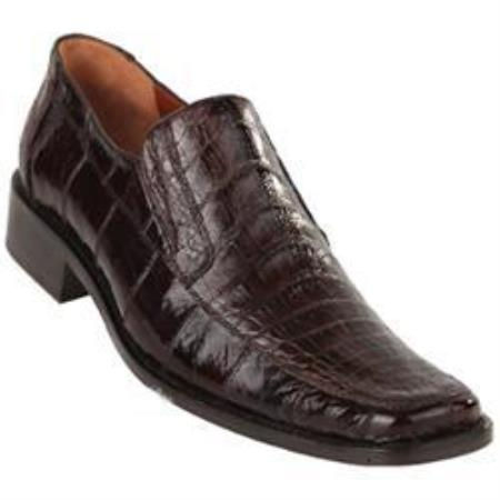 Buy SD13X Exotic Brown Caiman Belly Split Toe loafer slip Mens shoe Shoes