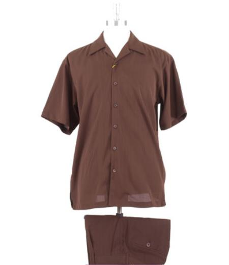 Comfortable Fit Brown Casual