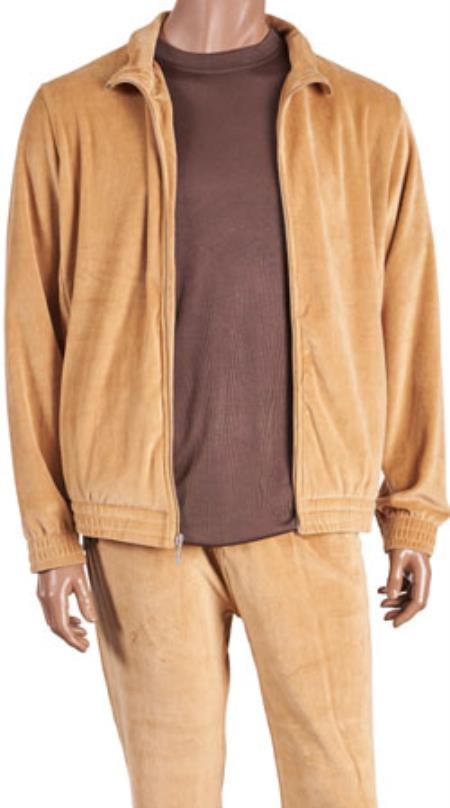 Camel Velour Jogging Casual