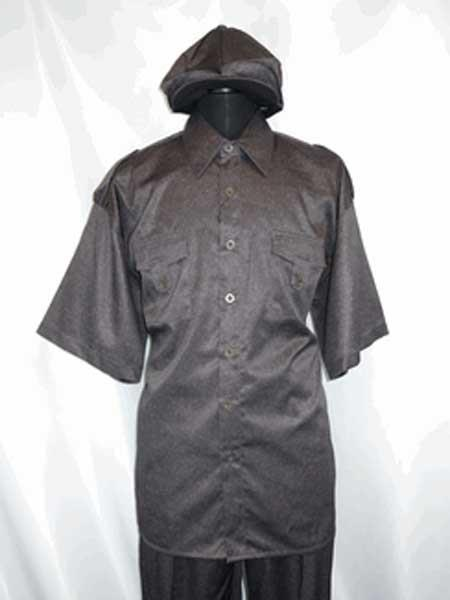 Piece Brown Collar Shirt