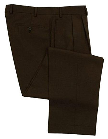 Mens Brown Ralph Lauren Wool Dress Pants