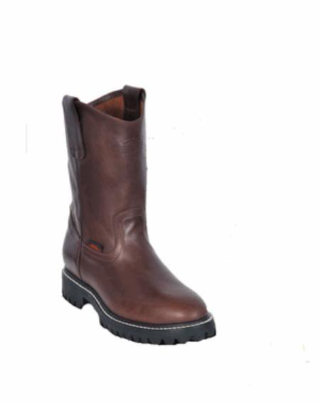 Mens Los Altos Grasso Nappa Work Boot ~ botines para hombre with Full Lug Sole
