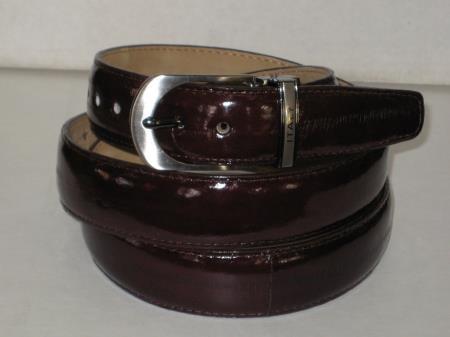 Buy 6SM Mens Genuine Authentic Brown Eel Belt