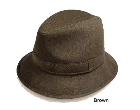 Buy V-84 New Men's Fedora Trilby Hat Brown