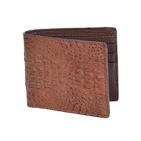 Wild West Boots Wallet-Brown Genuine Exotic caiman ~ World Best Alligator ~ Gator Skin