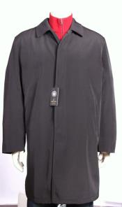 Mens Brown Rain Jacket Coat Trench Coat 3/4 length