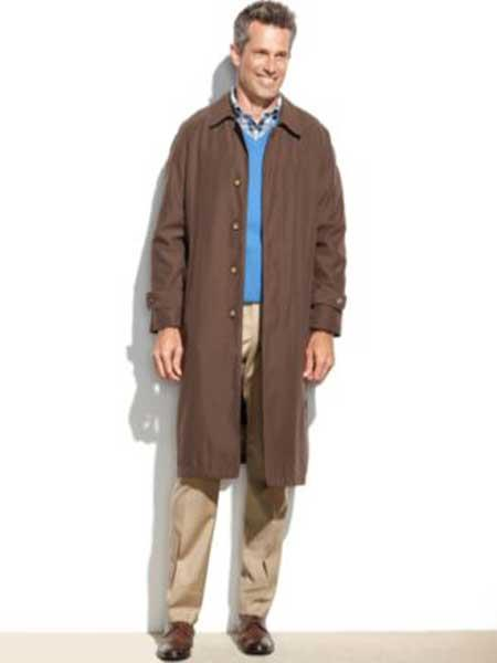 Mens Dress Coat Rain Coat Brown Trench coat outerwear