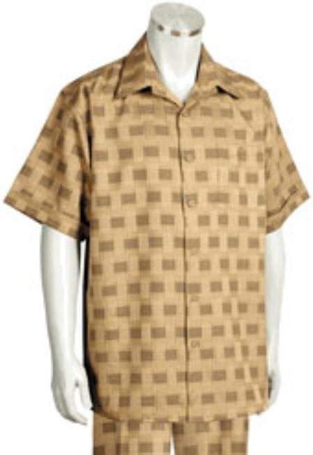 Buy KA4456 Leisure Walking Suit Mens Short Sleeve 2piece Walking Suit