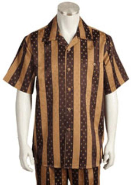1940s Mens Clothing Leisure Walking Suit Mens Short Sleeve 2piece Walking Suit $89.00 AT vintagedancer.com