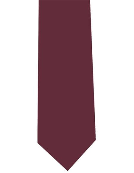 Mens Polyester Burgundy ~ Wine ~ Maroon Color Extra Long Neck Tie