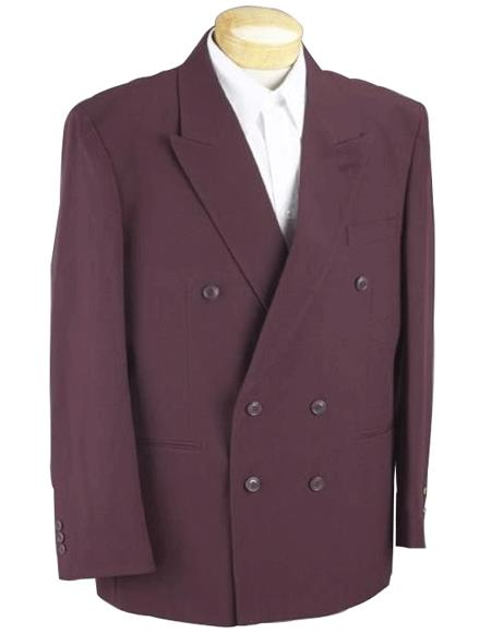 Burgundy Double Breasted Suits 2pc rayon Men's SHARP Classic fit  Suits