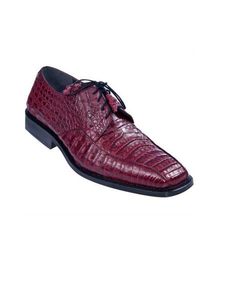 Gator Skin Dress Shoe – Maroon Dress Shoe ~ Burgundy Dress Shoe ~ Wine Color Dress Shoe