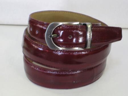 Buy AC-872 Mens Genuine Authentic Burgundy ~ Wine ~ Maroon Eel Belt
