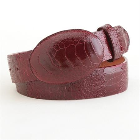 Buy SS-5825 Authentic Genuine Real Burgundy ~ Wine ~ Maroon Color Ostrich Leg Belt