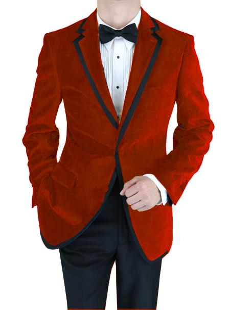 Mens Velvet Two Tone Trimming Tuxedo Jacket