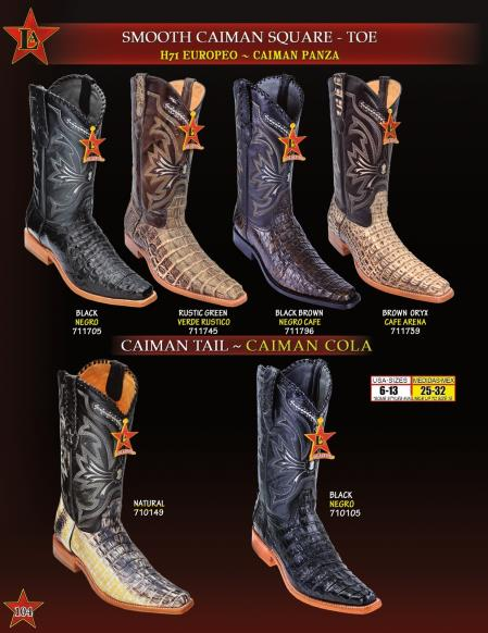 e10603cbad9 Los Altos Men's Genuine Smooth caiman ~ World Best Alligator ~ Gator  Skin/Tail Cowboy Western Boots Diff. Colors