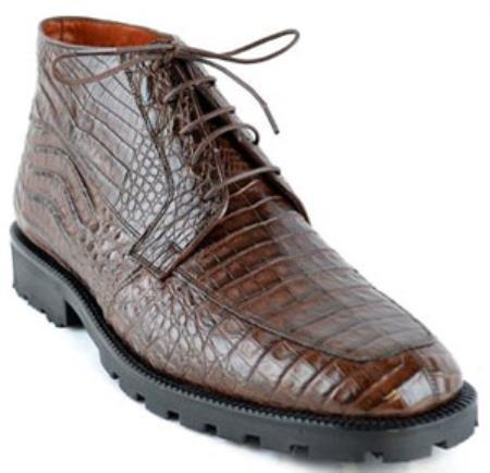 Botin para Hombre Caiman Panza Suela Tractor Cafe Ankle Dress Style For Man