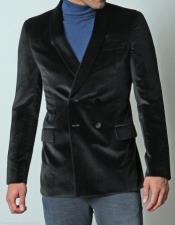 Buy RM1344 Mens Dinner Jacket Velvet ~ Velour Coat Jacket Blazer Double breasted style Grooms formal & Tuxedo looking!