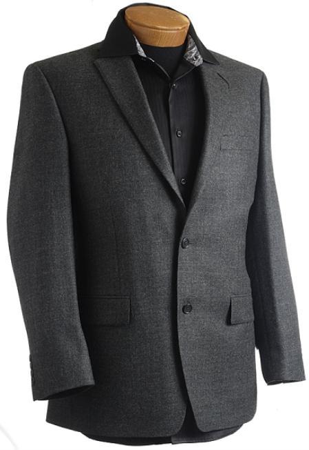 SKU#PN9741 Mens Charcoal Designer Classic Sports Jacket